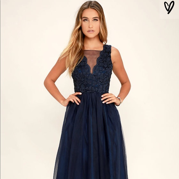 df42c2b5ee Lulu's Dresses | Lulus Navy Blue Maxi Dress | Poshmark